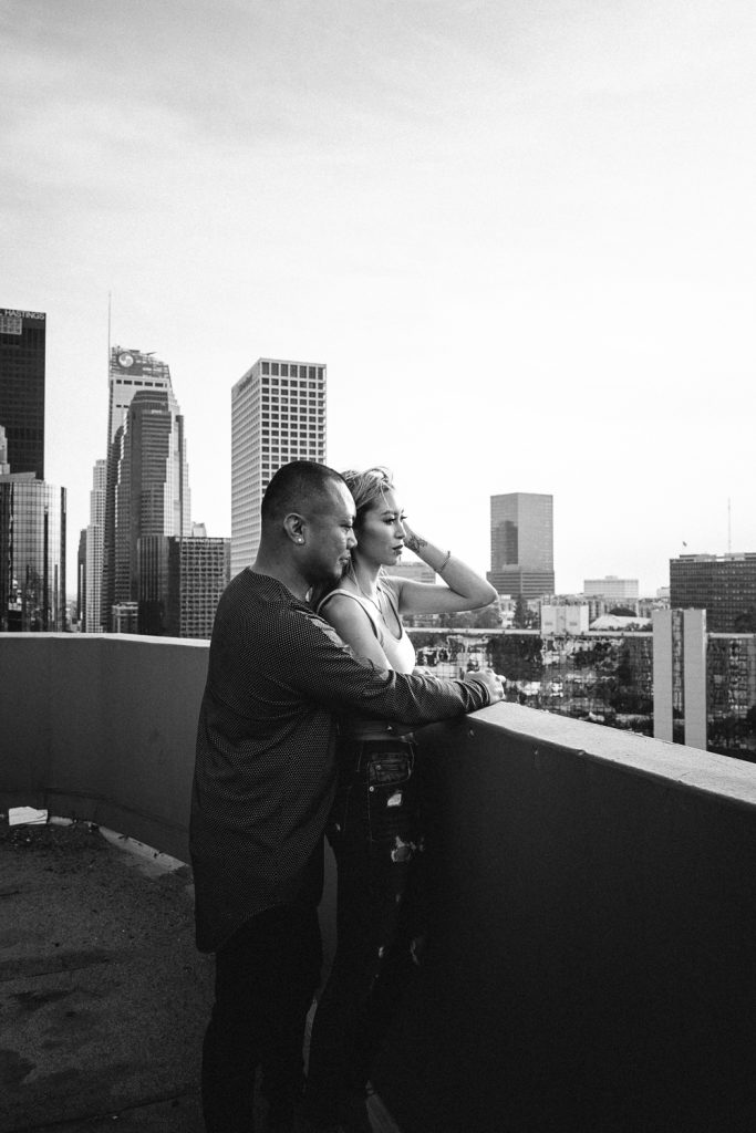 Downtown Los Angeles Jen and Greg Engagement Session